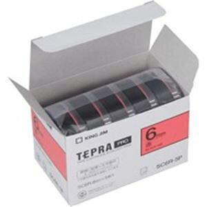 (業務用10セット) キングジム テプラ PROテープ/ラベルライター用テープ 【幅:6mm】 5個入り カラーラベル(赤) SC6R-5P ×10セット