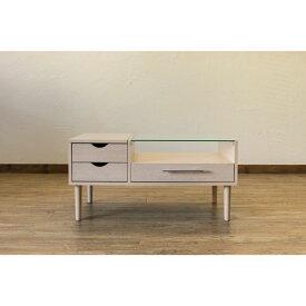 テーブル型 ドレッサー/化粧台 【ナチュラル】 幅80cm 木製 ガラス天板 引き出し3杯 1面鏡 脚付き 『Altona』 〔リビング〕【代引不可】