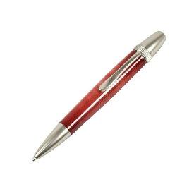 日本製 Air Brush Wood Pen キャンディカラー ボールペン(ギター塗装)【パーカータイプ/芯:0.7mm】Red/カーリーメイプル【送料無料】