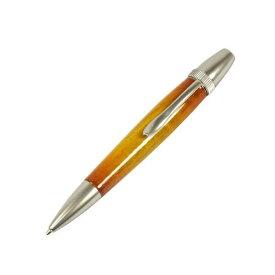 日本製 Air Brush Wood Pen キャンディカラー ボールペン(ギター塗装)【パーカータイプ/芯:0.7mm】Yellow/カーリーメイプル【送料無料】