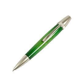 日本製 Air Brush Wood Pen キャンディカラー ボールペン(ギター塗装)【パーカータイプ/芯:0.7mm】Green/カーリーメイプル【送料無料】
