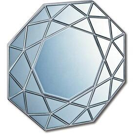 ダイヤモンドアートミラー DM-25002 アンティークシルバー【ポイント10倍】