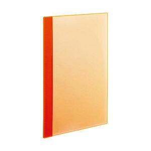TANOSEE薄型クリアブック(角まる) A4タテ 10ポケット オレンジ 1セット(50冊:5冊×10パック)