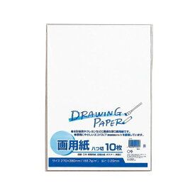 (まとめ) マルアイ 白画用紙 八ツ切 エ-P81パック(10枚) 【×30セット】