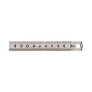 (まとめ)ライオン事務器 ステンレス定規 10cmPS-10 1本【×10セット】