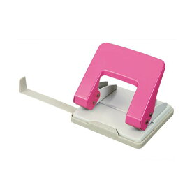 (まとめ) TANOSEE 2穴パンチ 20枚穿孔ピンク 1台 【×10セット】