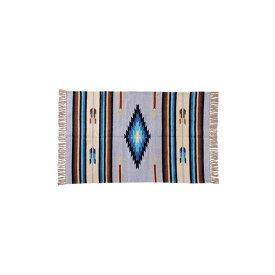 キリム ラグマット/絨毯 【90×130cm TTR-105D】 長方形 綿 インド製 〔リビング ダイニング フロア 居間〕