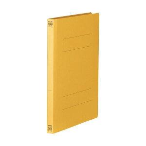 (まとめ)プラス フラットファイル 樹脂とじ具B5タテ 150枚収容 背幅18mm イエロー No.031N 1セット(10冊) 【×10セット】