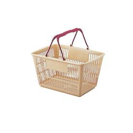 遠藤商事 ショッピングバスケット U-17 ベージュ/エンジ ASYF603