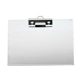 遠藤商事 ステンレスクリップボードSCB-A4穴付 ヨコ ZBC0802