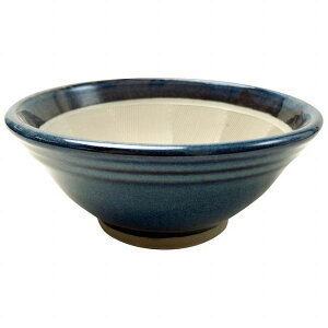 元重製陶所 青なまこ スリ鉢(シリコンゴム付) 10号 [BSL5508]