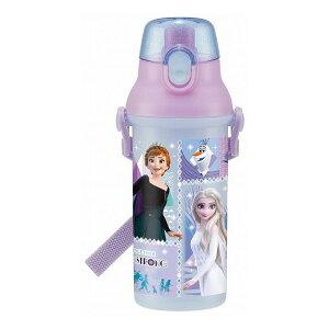 【正規販売店】 スケーター 抗菌食洗機対応直飲みワンタッチボトル 480ml アナと雪の女王 21 銀イオン Ag+ 子供 すいとう