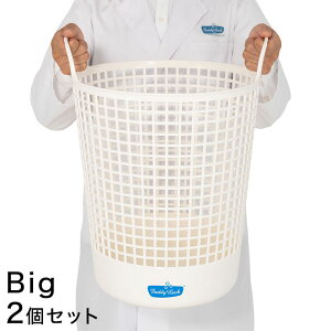 【2個組】 フレディレック ランドリーバスケット 洗濯かご 持ち手 軽量 大容量 FREDDY LECK 北欧 白 おしゃれ シンプル【送料無料】