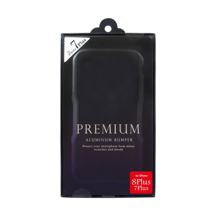 [iPhone8Plus/7Plus専用] アルミニウムバンパー ブラック iPhone8Plus/7Plus BPi7P-01BK