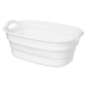 折りたたみ SOFT TUB WIDE ソフトタブ ワイド 23L ホワイト 伊勢藤 バケツ たらい 桶 バスケット コンパクト 折り畳み
