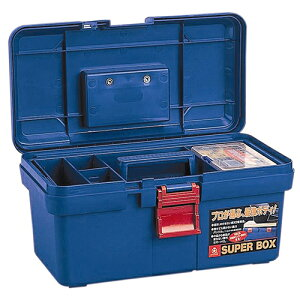 リングスター・PC工具箱・SR-400‐ブルー 作業工具:工具箱:プラスチック製