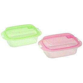 サンコープラスチック 食品保存容器 エブリーパック 長方型 エア弁付き No.3 2個組 カラフル