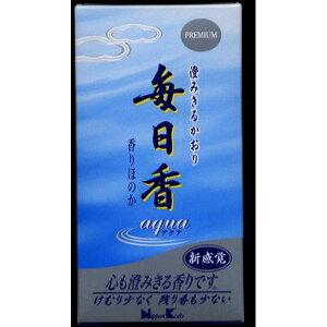 日本香堂 毎日香アクア 120g 薫香剤 お線香 仏事線香(代引不可)