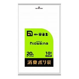 6個セット 日本サニパック SS20 ニオワイナ 消臭袋 白半透明20L10枚(代引不可)【送料無料】