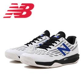 3ac308c44fb8ac ニューバランス テニスシューズ オールコート MCH796(2E) W1 ホワイト/ブルー【ポイント10