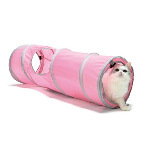 猫壱 キャットトンネル スパイラル ピンク