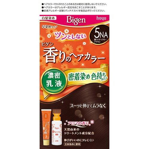 ビゲン 香りのヘアカラー濃密乳液 密着染め色持ちタイプ 5NA(深いナチュラリーブラウン) ホーユー