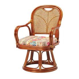 ラタン回転椅子 ミドルタイプ SH390 ロータイプ 高座椅子 座椅子 座いす フロアチェア 椅子 いす 籐 リビング(代引不可)【送料無料】