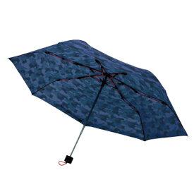 mabu 高強度折リたたみ傘 ストレングスミニ ネイビーカモ SMV-40361 丈夫 強風 収納ケース付き セミオートクローズ(代引不可)【送料無料】