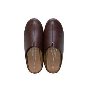 room's ダークブラウン LLサイズ スリッパ 部屋履き おしゃれ シンプル かわいい スマート アパレル プレゼント お揃い(代引不可)【送料無料】
