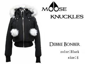 MOOSE KNUCKLES ムースナックルズ ダウンジャケット レディース DEBBIE BOMBER MK2002LB ブラック S(Mサイズ相当)【送料無料】
