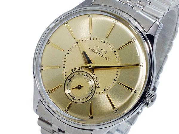 テクノス TECHNOS クオーツ メンズ 腕時計 時計 T6335SC ゴールド【楽ギフ_包装】
