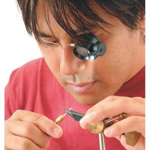 【TSK】検査用ルーペ 倍率5倍 レンズ径22mm LEDライト付 ワイヤーバンド 日本製 EY-5L /10点入り(代引き不可)【送料無料】