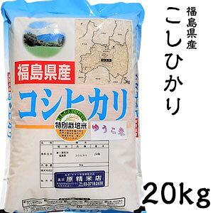 米 日本米 Aランク 令和2年度産 福島県産 こしひかり 20kg ご注文をいただいてから精米します。【精米無料】【特別栽培米】【新米】【コシヒカリ】(代引き不可)