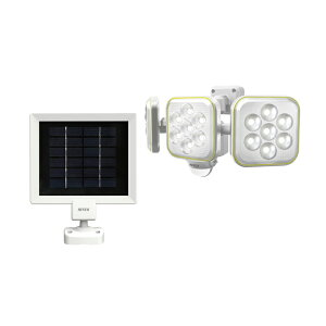 LEDセンサーライト ムサシ RITEX ライテックス S-90L ソーラー式 5W×3灯 明るさ1400ルーメン フリーアーム式 人感センサーライト 防犯 防犯グッズ 屋外 玄関(代引不可)【送料無料】