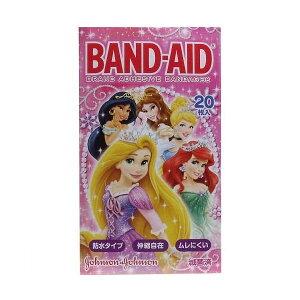 バンドエイド(BAND-AID) 防水テープ ディズニープリンセス 20枚入 絆創膏 ジョンソン エンド ジョンソン