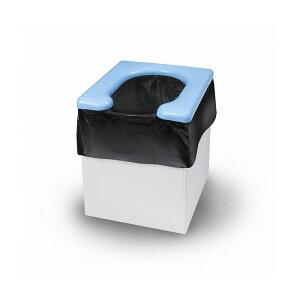 緊急簡易トイレ 組立て簡単 段ボール製 便座 凝固剤 汚物袋 各5回分 セット 防災 災害 大雨 地震 洪水 断水 対策 避難 避難所【送料無料】