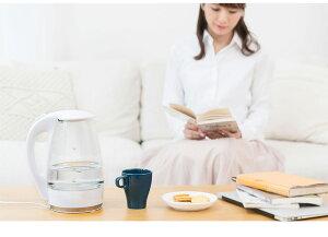 ガラスケトル1.8L保温機能付き電子ケトルKDKE-18AW湯沸かし器電気ポッドやかんコードレス保温ガラス製ワンタッチ【送料無料】