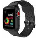 ROOX ルークス Apple Watch Series4&5 44mm用 インテグラル・スポーツ ブラック JGWSPSW5L-BK バンド ケース セット