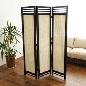 アジアンスクリーン 3連 N(ナチュラル) 籐家具 スクリーン パーテーション 間仕切り 目隠し 仕切り 衝立 ついたて 寝室 籐(代引不可)【送料無料】
