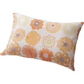 洗える枕 カバーセット フラワードット オレンジ Fドット 寝装品 繊維雑貨 枕(代引不可)