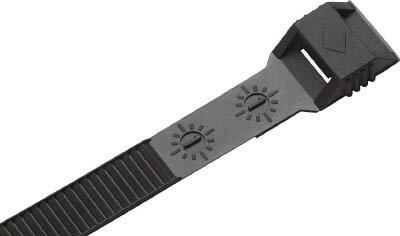 SapiSelco 「カール」 ケーブルタイ 黒 6mm×115mm 最大結束2 COL.3.410