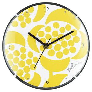 プルーン 掛け置き兼用時計 黄色いお花 PL-304