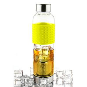 耐熱ガラス ボトル 水筒 asobu ティーグラスボトル ライム ANDIT-LM シンプル(代引不可)