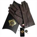 OROBIANCO オロビアンコ メンズ手袋 ORM-1401 Leather glove 羊革 ウール DARKBROWN サイズ:8.5(24cm) プレゼ...