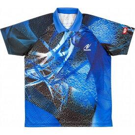 ニッタク 卓球 CLOUDER SHIRT クラウダーシャツ ゲームシャツ 男女兼用 ジュニア NW2177 【カラー】ブルー 【サイズ】J130