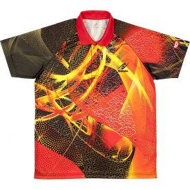 ニッタク 卓球 CLOUDER SHIRT クラウダーシャツ ゲームシャツ 男女兼用 ジュニア NW2177 【カラー】レッド 【サイズ】J130