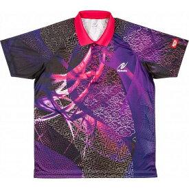 ニッタク 卓球 CLOUDER SHIRT クラウダーシャツ ゲームシャツ 男女兼用 ジュニア NW2177 【カラー】パープル 【サイズ】XO