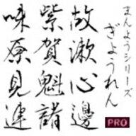 【Design筆文字Font】 万葉シリーズPRO 行恋書体 (Mac版OpenTypeフォント) / 販売元:光栄商事有限会社