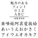AR楷書体M MAC版TrueTypeフォント /販売元:株式会社シーアンドジイ