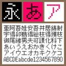 BT 12G Dot Regular【Win版TTフォント】【デザイン書体】【ビットマップ系】